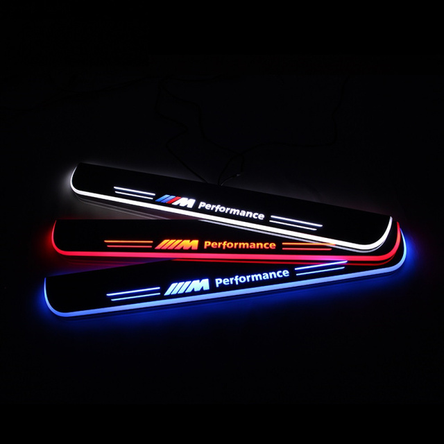 M Performance Moving LED Light Car Styling Refitting Welcome Door Scuff Pedal Acylic Luxury Plate for BMW 1234567 X1 X3 X5 X6 Z4