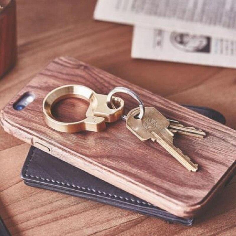 EDC 304 Shishe çeliku inox Opener çelës i punuar me dorë bronzi - Kampimi dhe shëtitjet - Foto 4
