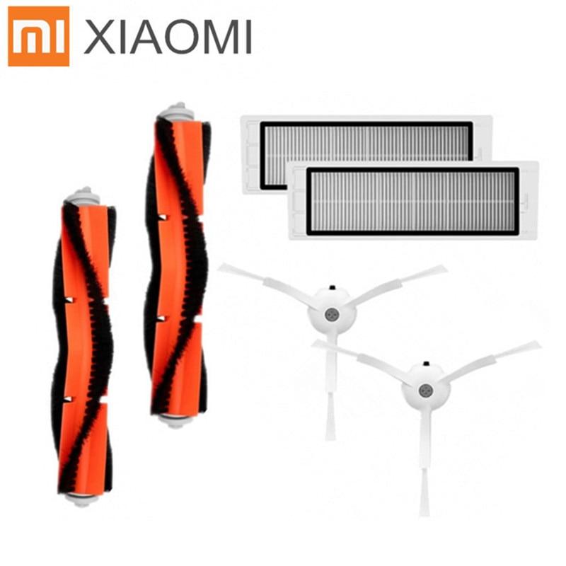 6 stks/partij Geschikt voor Xiaomi Mi Robot Stofzuiger onderdelen 2 stks belangrijkste borstel + 2 pcsHEPA filter 2 stks side borstel-in Stofzuigeronderdelen van Huishoudelijk Apparatuur op