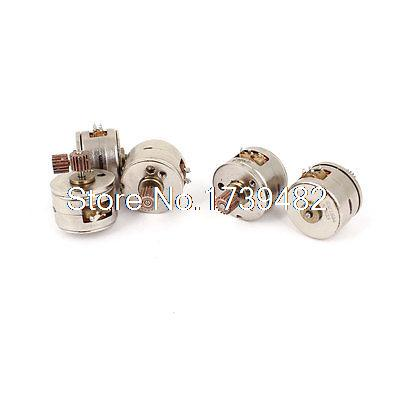 DC 3V-5V 2 Phase 4 Wire 15mm Dia Stepper Motor Step Angle 18 Brown Gear 5pcs 5pcs lot intersil isl8121irz isl8121qfn 3v to 20v two phase buck pwm controller with integrated 4a mosfet drivers