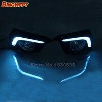 2pcs Lot Dimming Style Relay Waterproof 12V Car LED Light DRL Daytime Running Lights For Mazda