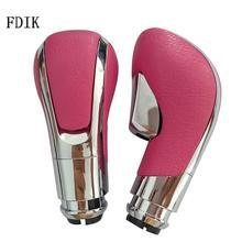 FDIK 1PC Pink Black Universal Automatic Gear Stick Shift Knob Car Gear Knob For Opel Vauxhall Insignia Plastic