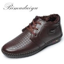 BIMUDUIYU Lace-Up Beiläufige Schuhe herren Winter Stiefel Mit Kurzen Plüsch Fashion Tactical Stiefel Männlichen Warme Leichter Ankle schnee Stiefel