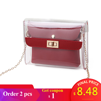 Women PVC clear bag satchel bag Fashion Transparent Shoulder Crossbody Bags Ladies Messenger Casual Shopping Small Handbags