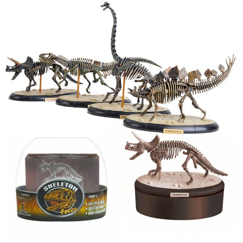 4D Assembling Fossil Skeleton Dinosaur Simulation Animal Model Children Educational Science and Education Toy simulation brand papo stegosaurus dinosaur model resin children action