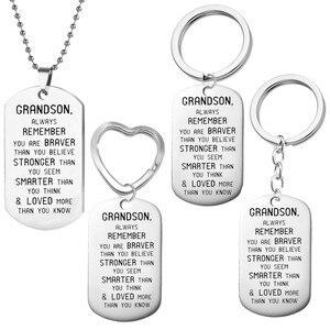 Подвеска из нержавеющей стали длинное ожерелье «Любимое больше, чем вы знаете» модные ожерелья для мужчин подарки на день рождения