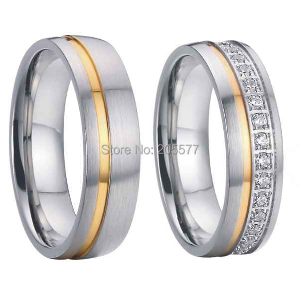 2015 luxury cz stone anniversary engagement wedding rings sets eternity bands for men and women couples new arrival china wholesaler brushed and polishing cz stone beautiful gift for women couples promise wedding band rings