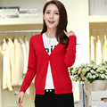 Women 2016 Cardigan Knitted Multi-color Long Sleeve V Neck Solid Poncho Sweater Feminino Tops pull femme sudaderas 4 Sizes B317