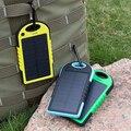 5000 mAh Dual USB Cargador de Batería Solar Portable Universal Banco de la Energía resistente a La Lluvia
