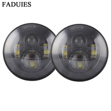 """FADUIES For Jeep Wrangler 97-15 Hummer Toyota Defender For Jeep JK 7"""" Round Headlight Led 7"""" LED Harley Motorcycle Headlamp"""