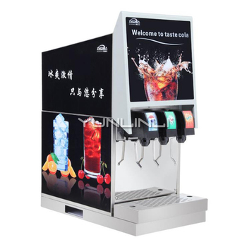 Commercial Beverage Machine Stainless Steel 3-valve Cold Drinks Dispenser Full-automatic Carbonated Beverage Dispenser IKLJ-3B3 фото