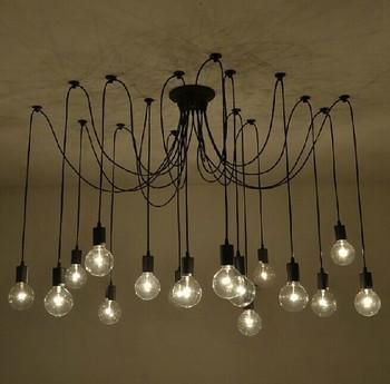 Edison Led Light Bulb | Retro Spider Pendant Lamp Classic Decorative Loft Lights American Country Edison Pendant Light E27/E26 120V-240V New Arriving
