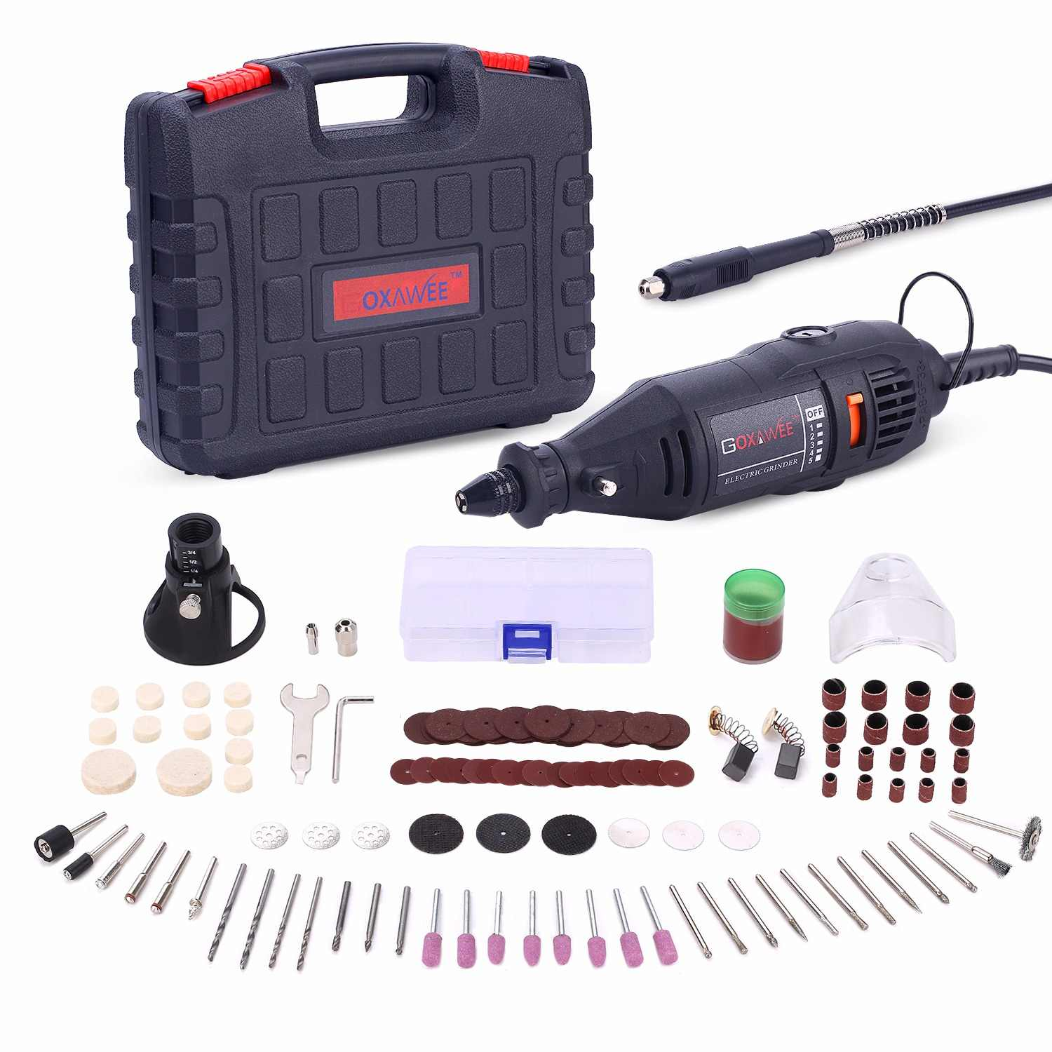 goxawee 220v power tools electric mini drill with 0 3 3 2mm univrersal chuck shiled [ 1500 x 1500 Pixel ]