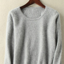 2020 Autumn Winter Women Sweater 100% Mink Cashmere Sweaters And Pullover Soft Warm Tops Female O neck Long Sleeve Basic Jumper