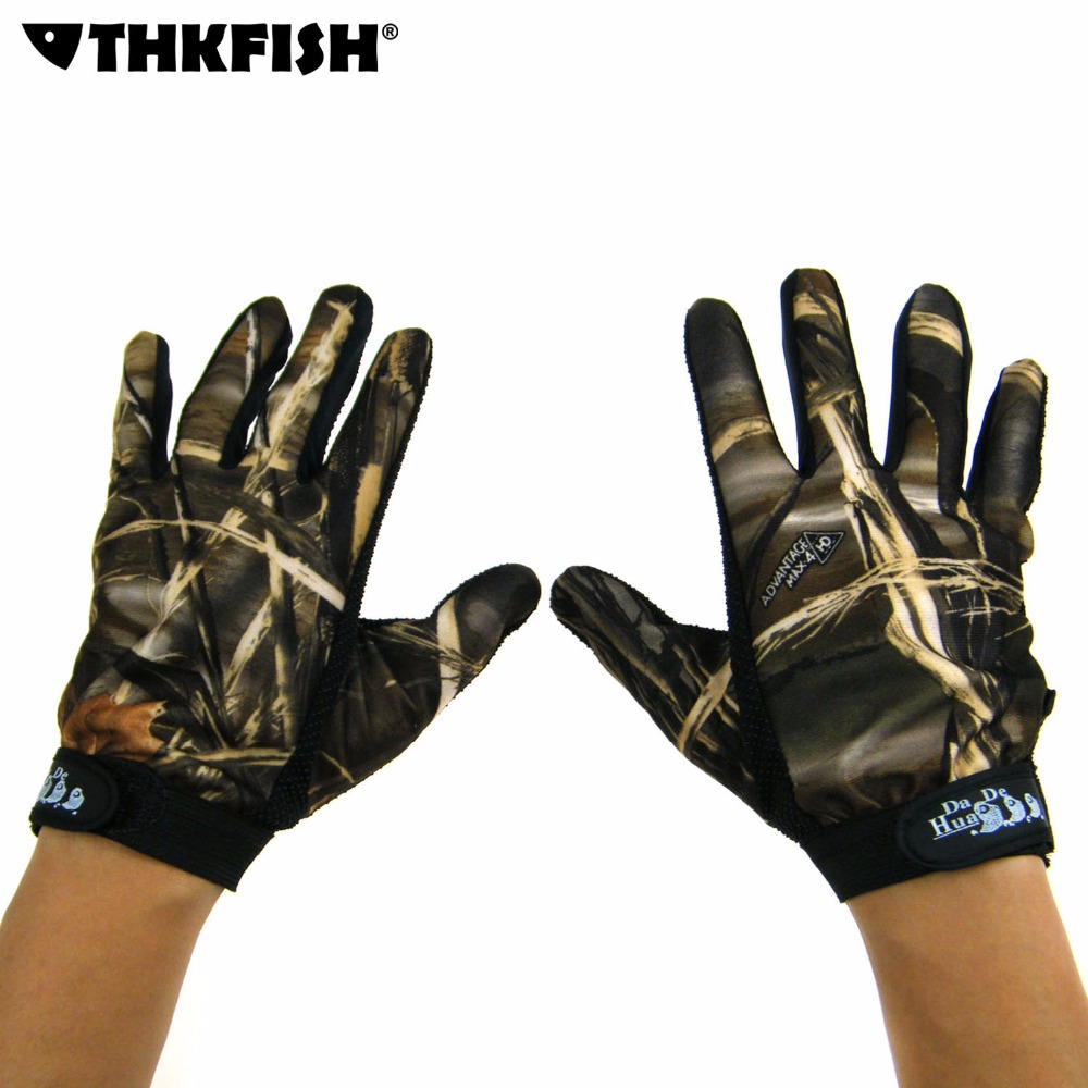 Fishing Gloves 5 Full Finger Camo camouflage Fishing Hunting Glove Free Shipping