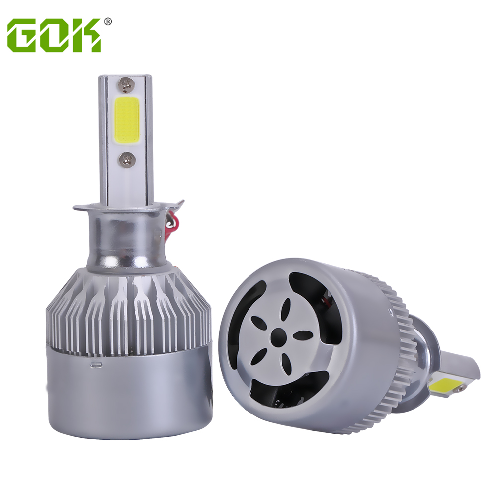 Super bright Auto Car Light H1 h3 Led H8 H11 H4 9005 LED Headlights 6500K xenon white 72W 7600LM COB Automobiles Parts Lamp Bulb 2pcs h4 hb2 9003 cob 4 led white auto car driving light lamp bulb dc 12 24v 6000k xenon white car super bright car styling