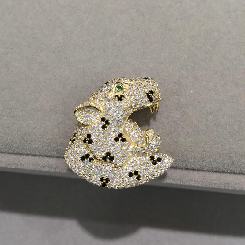 Bijoux à bricoler soi-même 925 argent avec Zircon cubique tête de léopard connecteurs bijoux composants de mode femmes bijoux