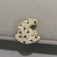 DIY Jewelry 925 Silver With Cubic Zircon Head of Leopard Connectors Jewelry Findings Component Fashion Women Jewelry