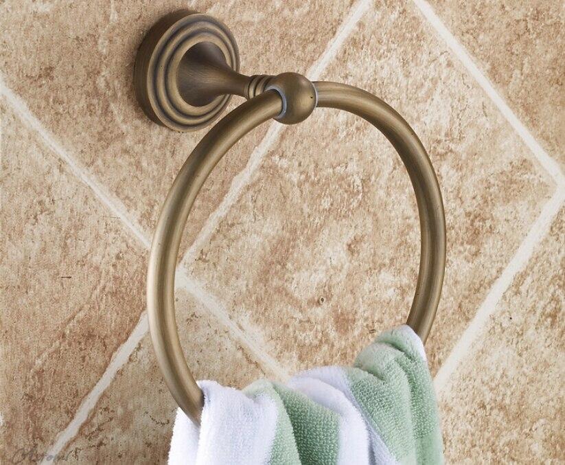 ФОТО Top High quality total brass unico bronze wall mounted round Bathroom towel ring towel rack bathroom accessories