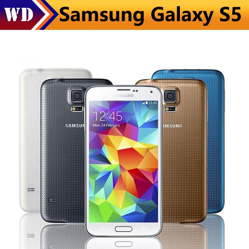 Цена за Оригинальный Разблокирована Samsung Galaxy S5 i9600 SM G900 Quad core 3 Г и 4 Г Смартфон GPS WIFI 5.1 дюймов 16MP Камера Восстановленное Сотовый телефон