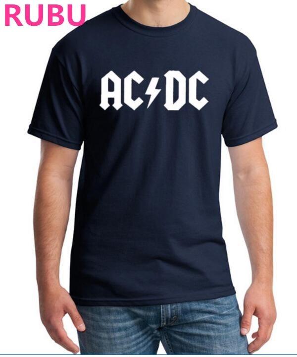 2017 NUEVA banda de Rock AC DC camiseta de los hombres de verano 100% - Ropa de hombre
