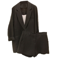 Work Wear Short Pants Suit Women Summer Autumn Long sleeved Blazer with Shorts OL Office Ladies Formal Suits