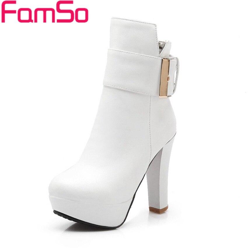Plus Size34 43 2016 New font b Women b font Boots high Heels Autumn platforms Pumps