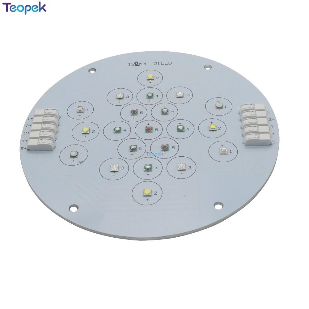 Cree XPE + Epi LED s 3535 UV 5 canaux 21 LED s lampe d'émetteur de LED mixte lumière pour bricolage Aquarium Aquarium lampe de réservoir de poissons plante croissance éclairage - 2