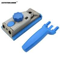 Chế biến gỗ Pocket Lỗ Jig Hệ Thống Khoan Hướng Dẫn Mộng Kẹp Jig cho Gỗ Khoan Lỗ Saw Jig Tool Multitool Tập Tin Đính Kèm