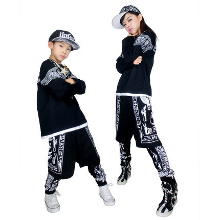 2015 free shipping hip hop dance costumes for children for Hip hop outfit damen