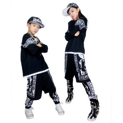 1778527a14adc 2015 envío gratis Hip Hop trajes de danza para niños camiseta de la manga  danza Jazz pantalones para hombres y mujeres Hiphop ropa en Danza Popular  china de ...
