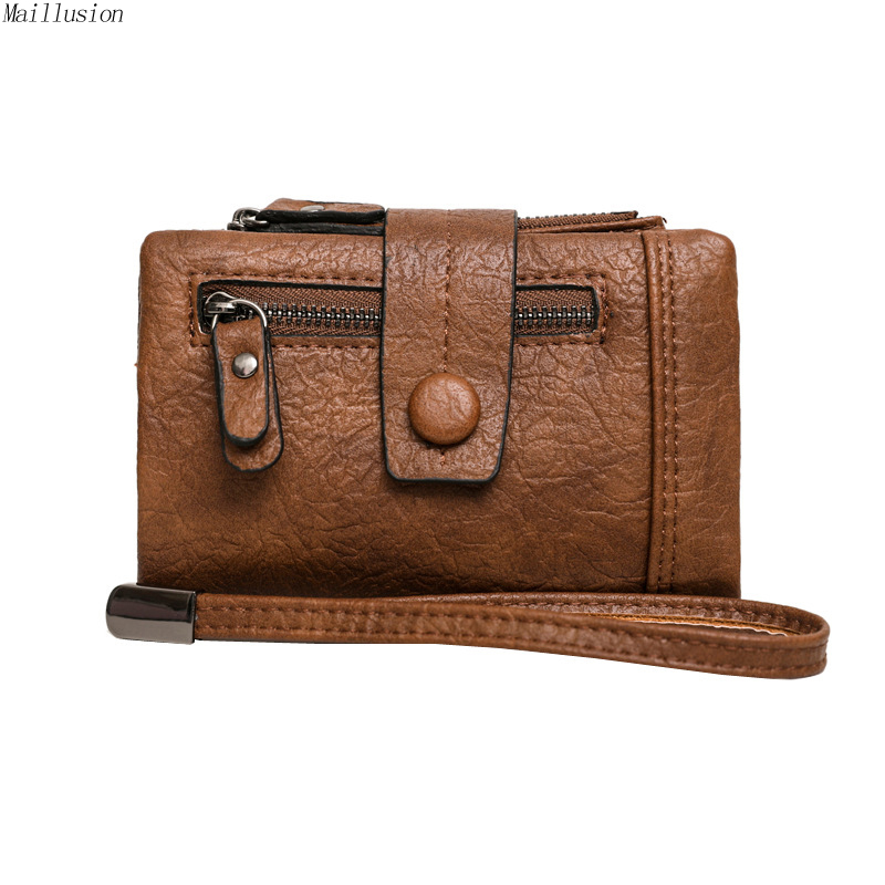 Maillusion Vintage Rfid Wallet Women Fashion Zipper Hasp Ladies Wallet Coin Purse Card Holder Short Clutch Wallet Of Wristlet