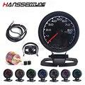 62 мм 7 цветов манометр для масла D/A LCD цифровой дисплей Автомобильный манометр 2 5 дюймов гонок