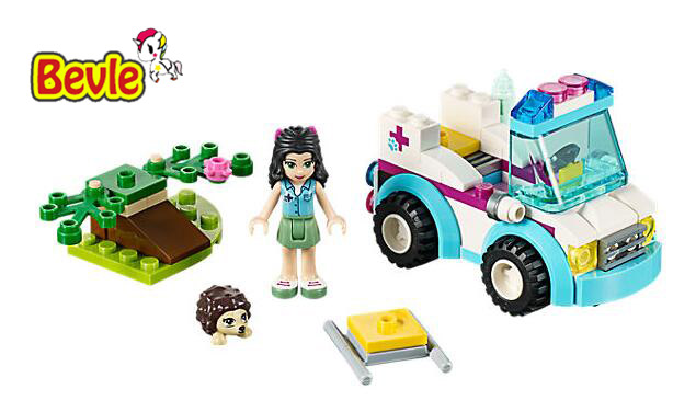 Bela 10534 Friends Vet Ambulance Emma Heartlake City Building Blocks Bricks Toy Compatible With Legoings Friends 41086
