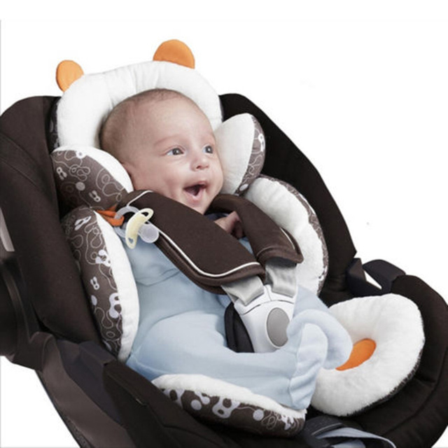 Baby Car Seat Pad Stroller Cushion Carriage Thermal Liner Child Shoulder Belt Strap Cover Head