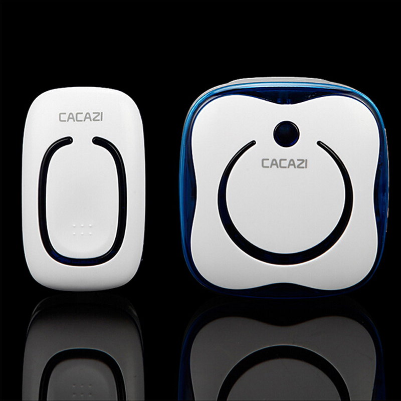 Wireless Door Bell 280 Meter Distance With 36 Songs Doorbell Available 4 Levels Of Adjustable Volume Just Use Battery Blue Color