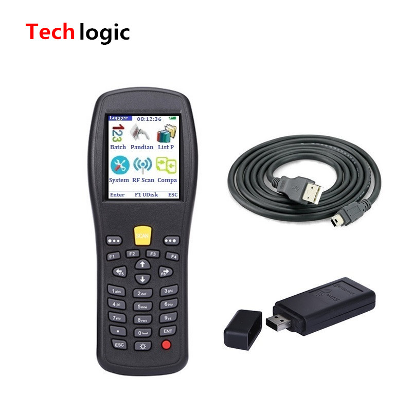 Techlogic X3 Wireless Barcode Scanner PDA Inventory Bar Code Scanner Portable Laser Barcode Gun with storage 433mhz wireless ccd barcode scanner portable barcode reader bar gun with base charger and receiver in one with storage function