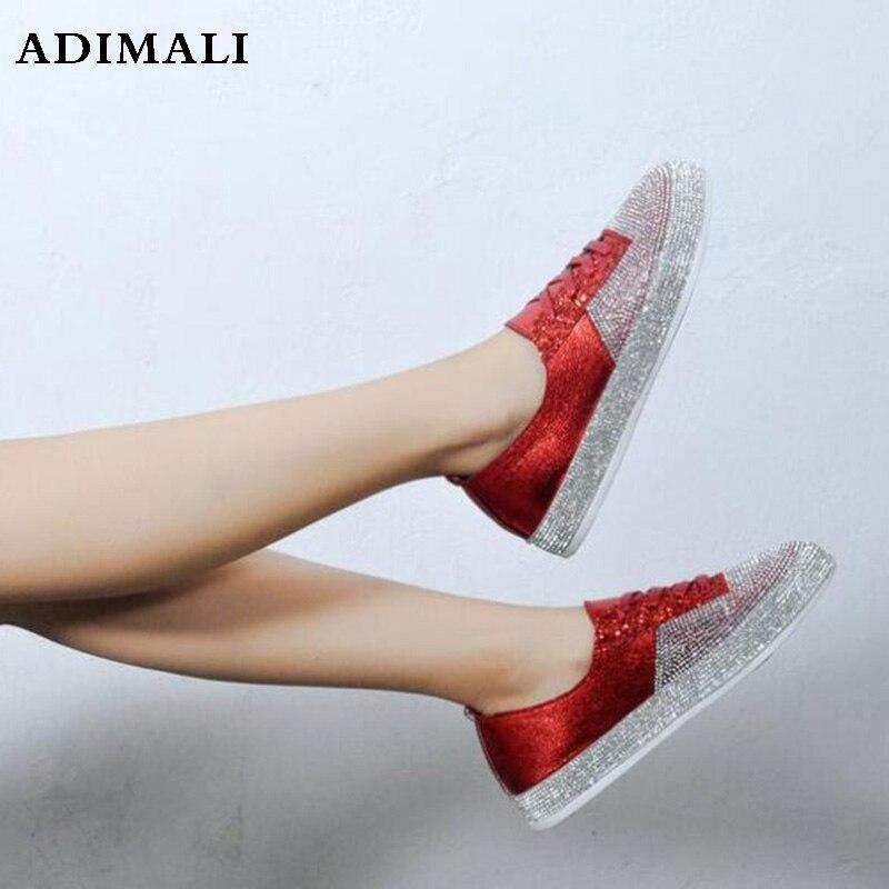 Весна-осень женская обувь на плоской подошве без шнуровки обувь из натуральной кожи с блестками женские лоферы Мода ручной работы стиль Жен...