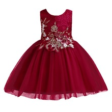 Baby Kid Girl Wedding Bridesmaid Tulle Princess Dresses Flower Wedding Party Formal Gown Communion Formal Tutu Girls Dress 2-14Y цена в Москве и Питере