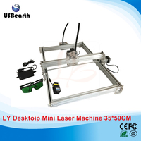 LY 3550 500mw Blue Violet Laser Engraving Machine Mini DIY Laser Engraver IC Marking Printer