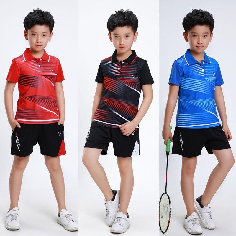 Gyermek tollaslabda Jersey, rövid ujjú férfiak / nők öltönyök, asztalitenisz mezek, pingpang mezek diákoknak, ifjúsági sport mez