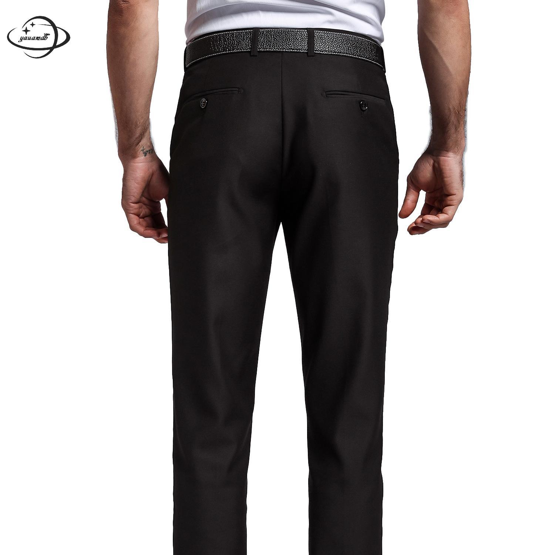 YAUAMDB/мужские костюм Штаны весна-осень Размер 28-40 Мужские брюки карман одежда бизнес soild формальный человек черная одежда ly51