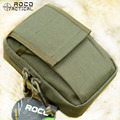 """ROCOTACTICAL D19 Militar Molle Paquetes de La Cintura de 5.5 """"Teléfono Ejército Caza Bolsa de Nylon Cordura 1000D SBS Cremallera Ranger Verde"""