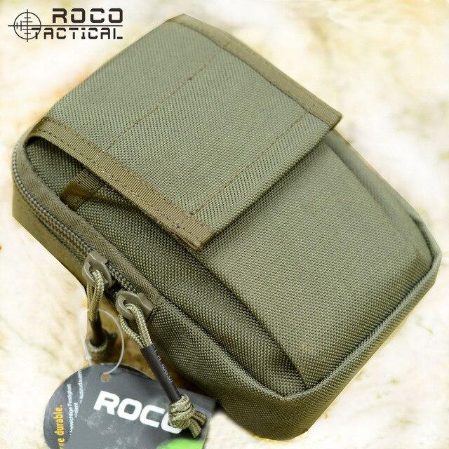 Rocotactical Taktis Ponsel Pouch, Molle Taktis Pinggang Utility Tas