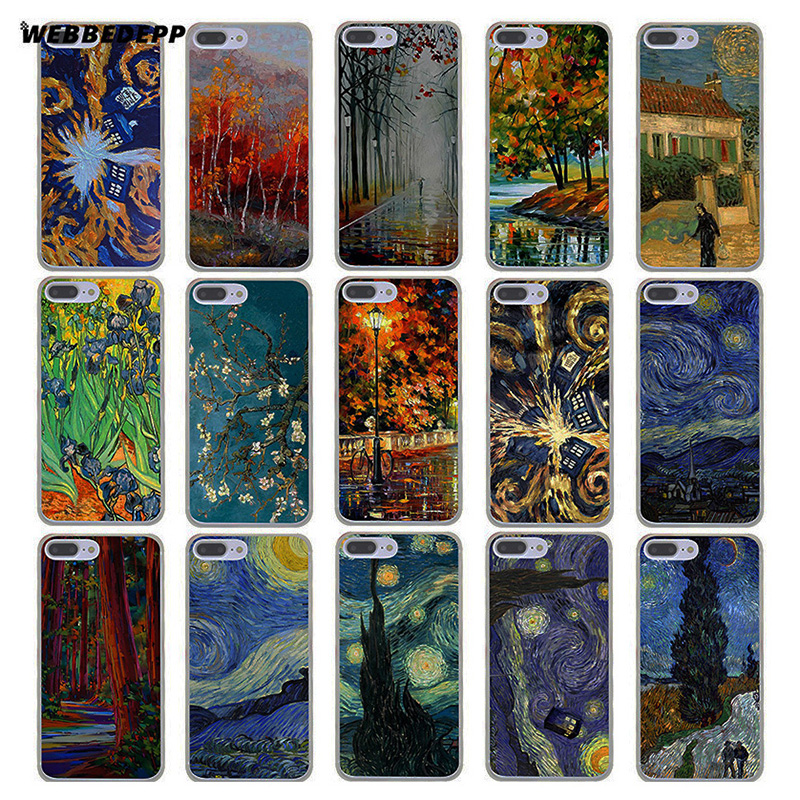 Original Lvhecn 5 5s Se 6 6s Phone Cover Cases For Iphone 7 8 Plus X Xs Max Xr Doctor Who Tardis Vincent Van Gogh Starry Night Painting A Wide Selection Of Colours And Designs Cellphones & Telecommunications