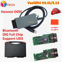 Russion Stock! Plastic Box A+ VAS5054A VAS5054 OKI Full Chip Bluetooth VAS5054 ODIS 4.4.1/v5.13 VAS 5054A OBD2 Diagnostic tool