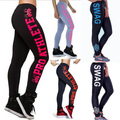 Hot Sale Fashion Womens Letters Printed Active Leggings for Women 2017 New cotton Trousers ladies Workout Fitness Pants