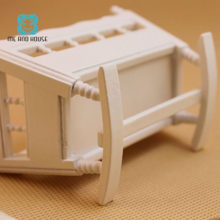 Us 4 36 1 12 Doll House Miniature Handmade Modern Wooden Furniture Crib Baby Cradle Children Room In Doll Houses From Toys Hobbies On
