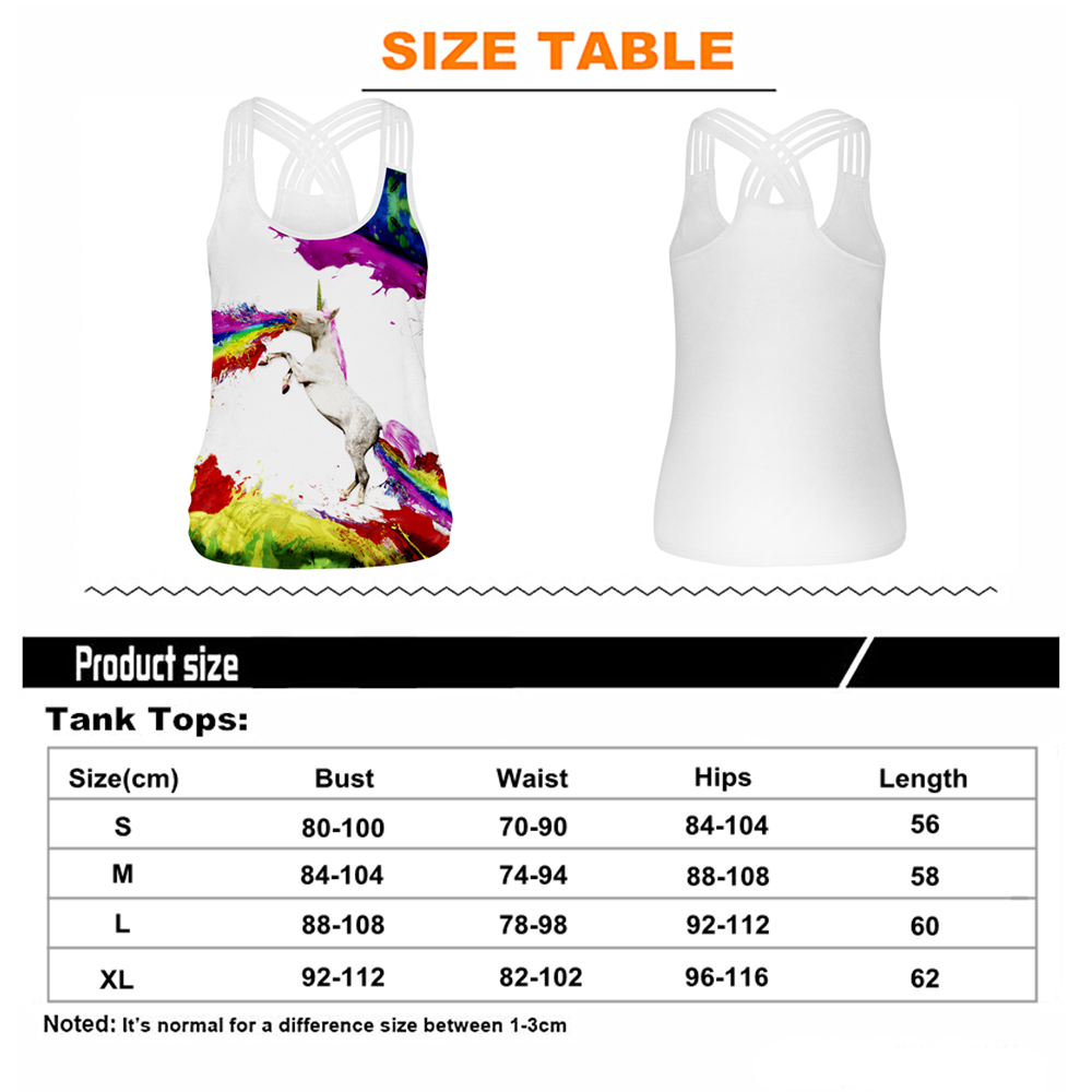 Купить с кэшбэком Summer Women Sport Vest Horse 3D Print Yoga Shirts Running Vest Slim Undershirt Fitness T-shirt Cross Strip Tank Tops Gym Blouse