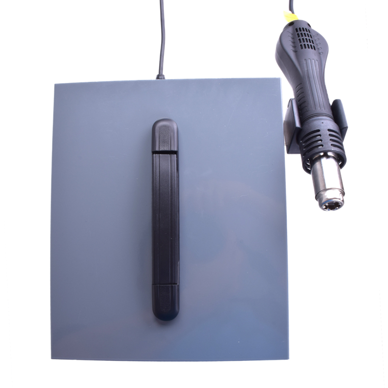 Купить с кэшбэком 9305D 4 in1 Digital SMD Hot Air Heat Gun Rework Solder Station + Electric Soldering iron with Tools Accessies